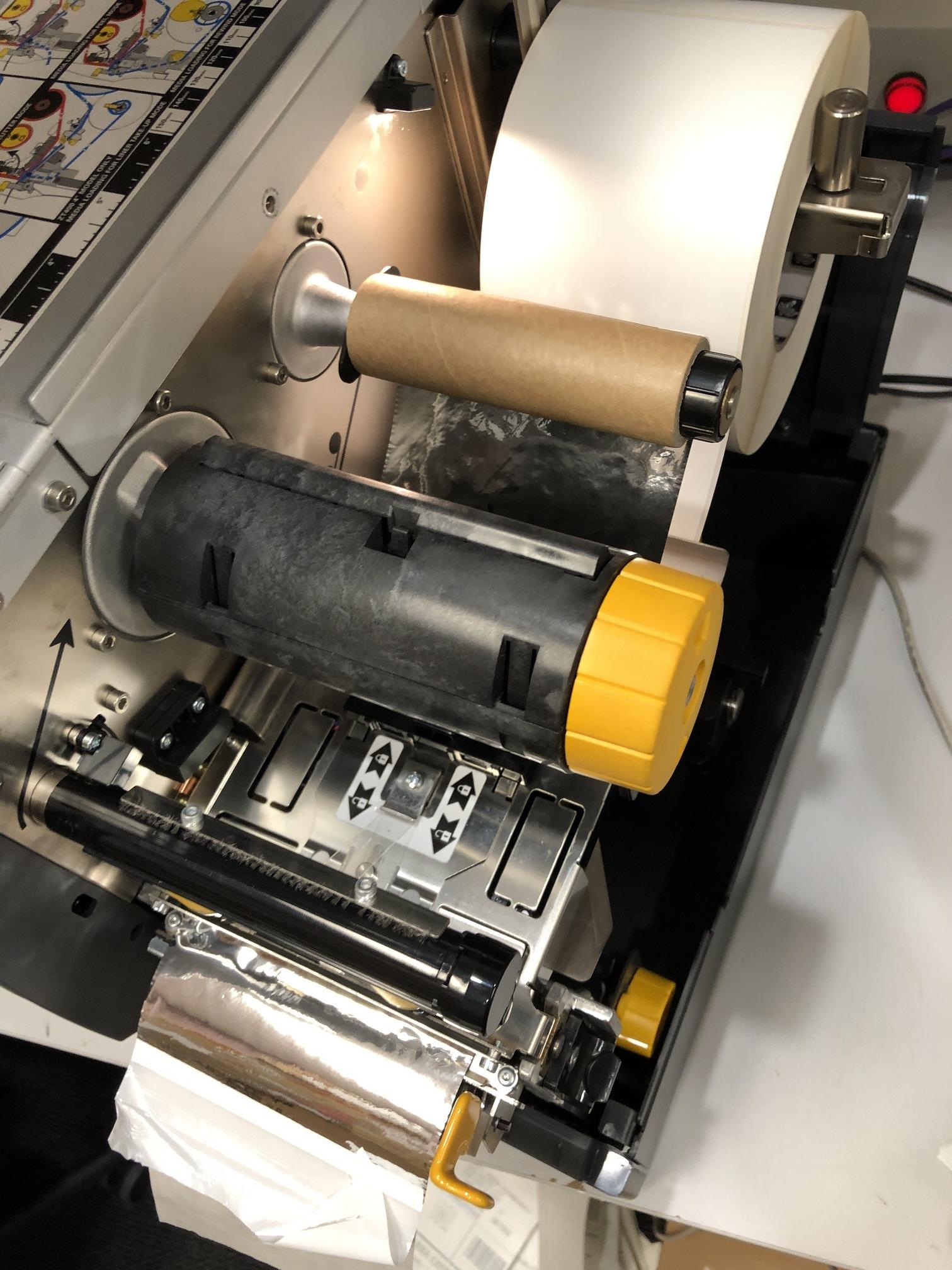 ZT400 Series Printers using White Ribbon