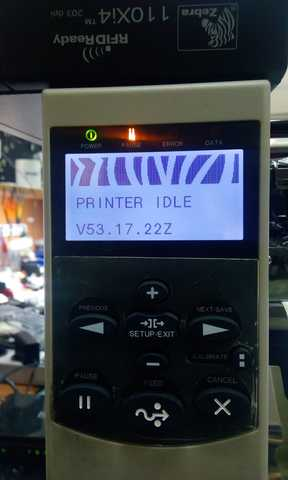 Hello 110X4i printer after updating the firmware V53 17 22Z